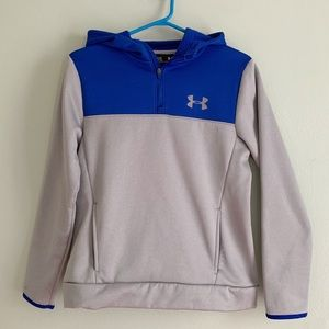 Under Armor Sports Pull Over Hoody YT Large